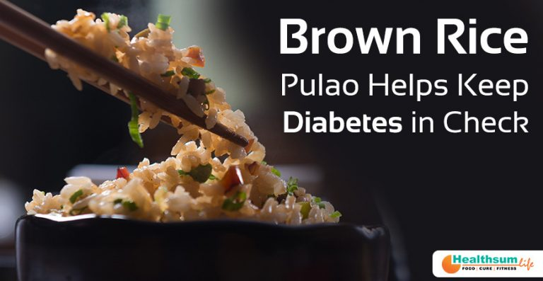 Brown rice pulao for diabetics