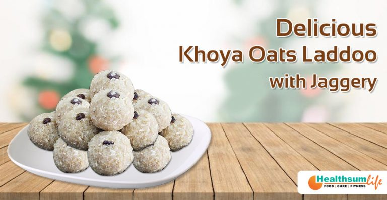 Delicious Khoya Oats Laddoo With Jaggery