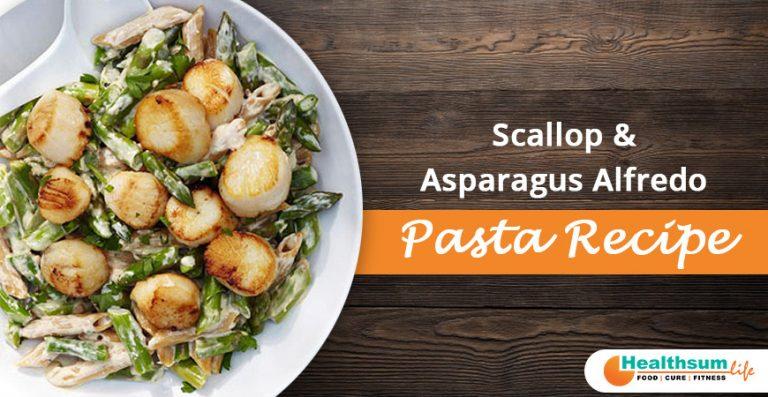 Scallop and Asparagus Alfredo Pasta Recipe