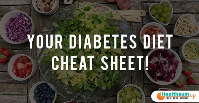 Your Diabetes Diet Cheat Sheet!